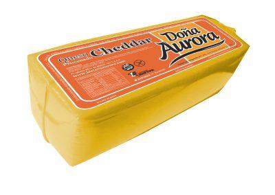Queso Cheddar Doña Aurora de Lácteos Aurora 4Kg aprox.
